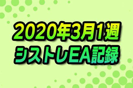 【FX自動売買】EAシストレ週間成績(2020年3月1週)
