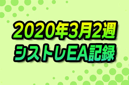 【FX自動売買】EAシストレ週間成績(2020年3月2週)