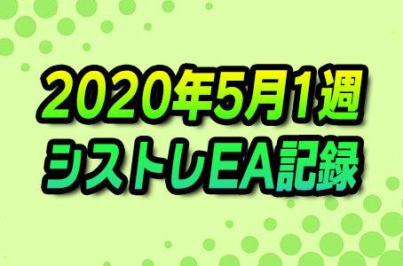 【FX自動売買】EAシストレ週間成績(2020年5月1週)