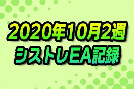【FX自動売買】EAシストレ週間成績(2020年10月2週)