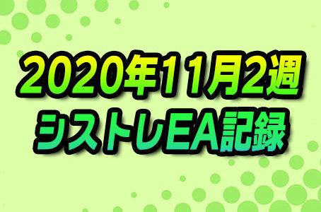 【FX自動売買】EAシストレ週間成績(2020年11月2週)