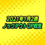 【ノックアウトオプション】2021年1月2週の収支報告
