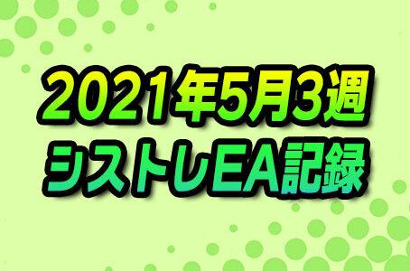 【FX自動売買】EAシストレ週間成績(2021年5月3週)