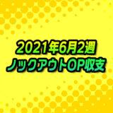 【ノックアウトオプション】2021年6月2週の収支報告